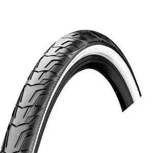 Велопокрышка Continental RIDE City, 28 x 1.6 (42-622), Reflex, ExtraPuncture Belt, 3/180TPI, черно-белый, 101657